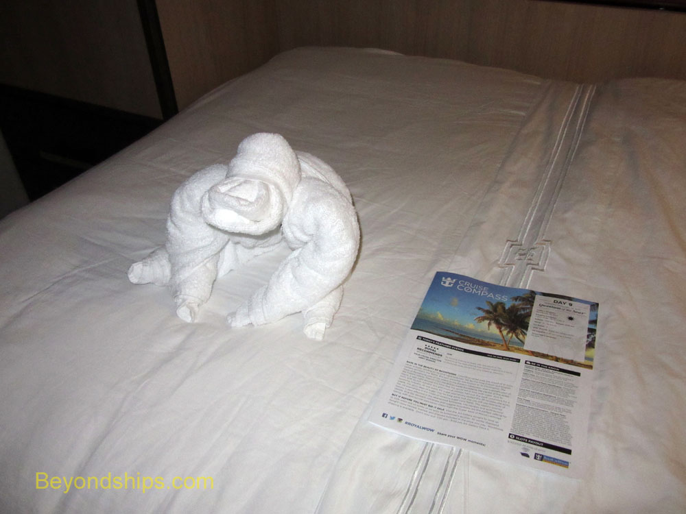 Quantum of the Seas towel animal