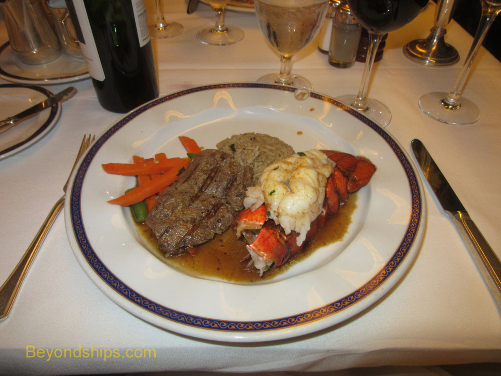 Surf and turf on cruise ship Westerdam