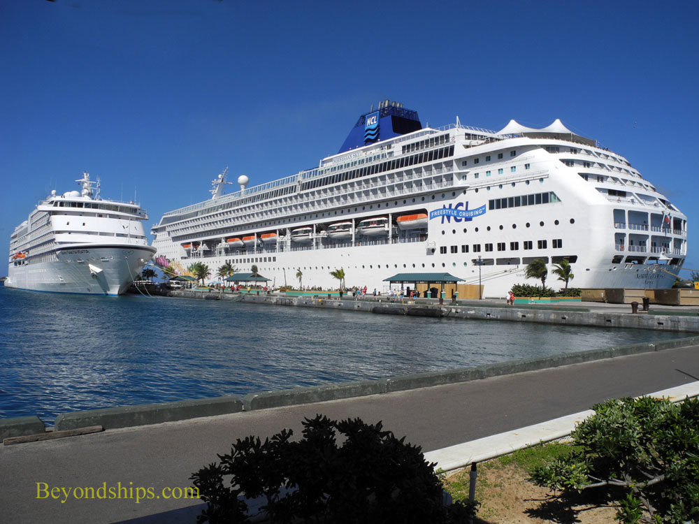 Cruise ships Seven Seas Navigator and Norwegian Sky