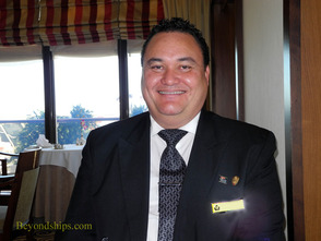 Maitre d'hotel Patu Kerel of the Princess Grill on Queen Mary 2