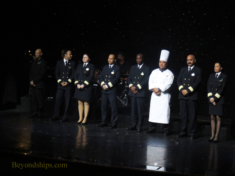 Cruise ship Norwegian Gem hotel officers