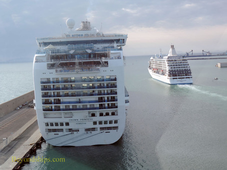 Crown Princess and Seven Seas Voyager cruise ships