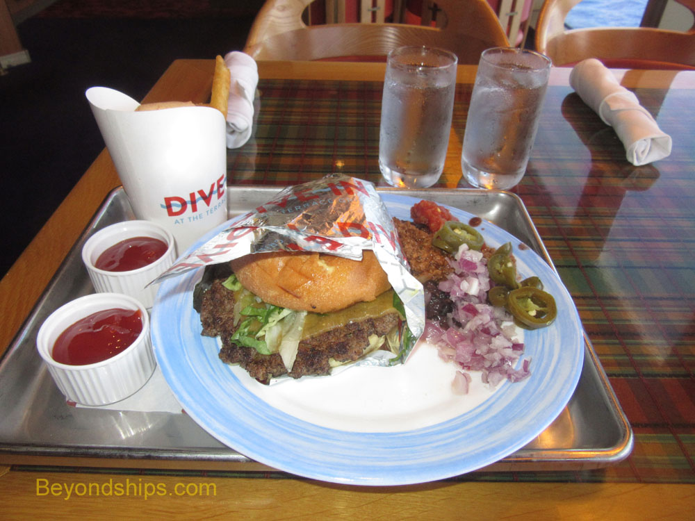 Westerdam cruise ship burger