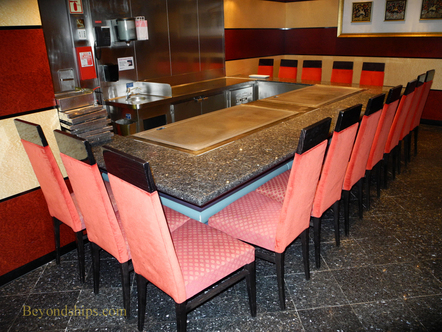 The Teppanyaki Room on on Norwegian Sun cruise ship