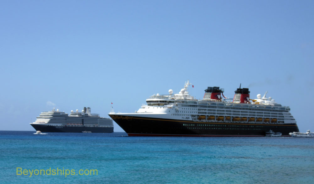 Cruise ships Nieuw Amsterdam and Disney Magic