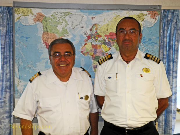 Hotel General Manger Arturo Carlise and Captain Carlo Servillo of Ocean Princess