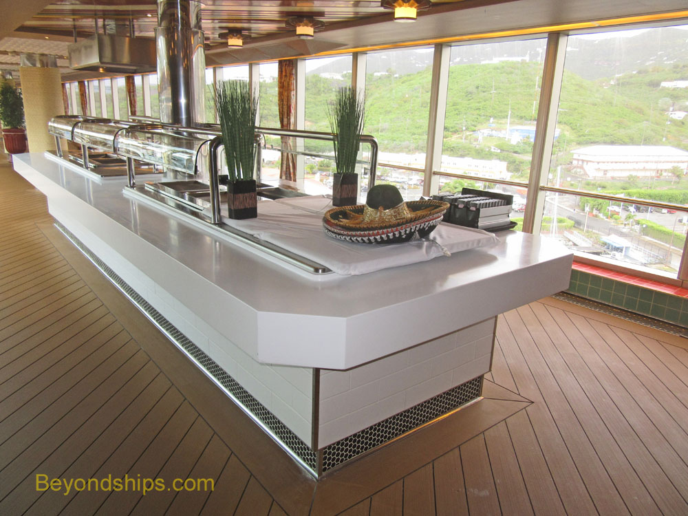Westerdam cruise ship taco bar