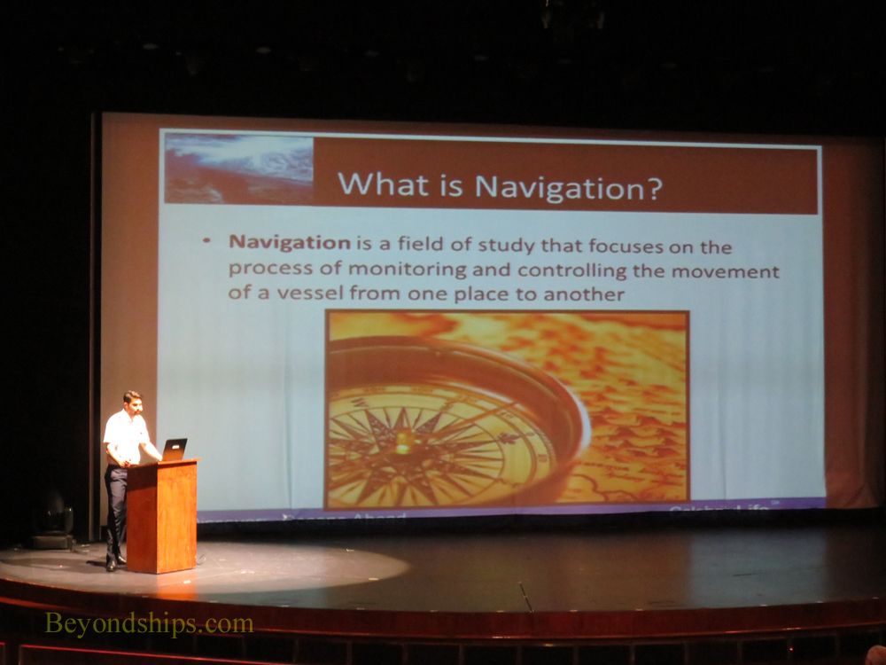 Navigation talk on Celebrity Summit