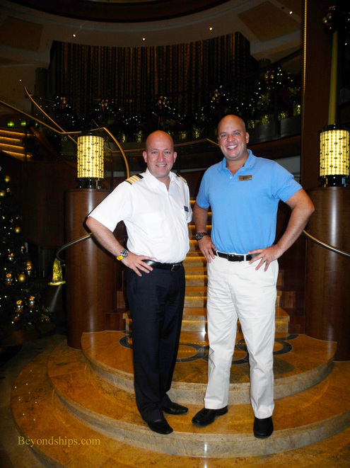 Picture Hotel Director Julian Brackenbury and Cruise Director Julian Baya of cruise ship Celebrity Reflection