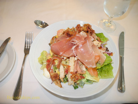 Picture Adventure of the Seas main dining room salad