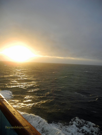 Picture the ocean from cruise ship Caribbean Princess.