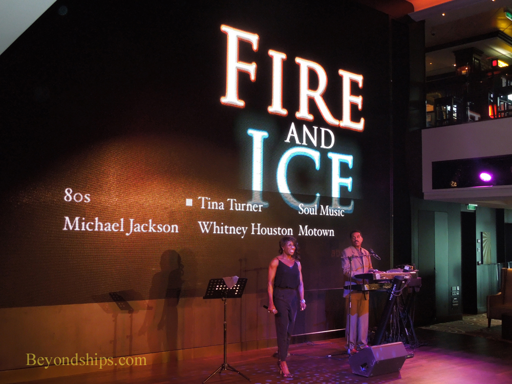 Fire and Ice performing on Norwegian Breakaway
