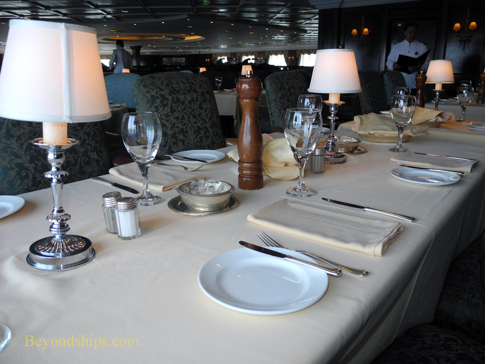 Main dining room on cruise ship Ocean Princess