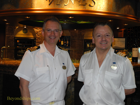 Captain Tony Draper and Hotel General Manager Peter Hollinson of cruise ship Emerald Princess
