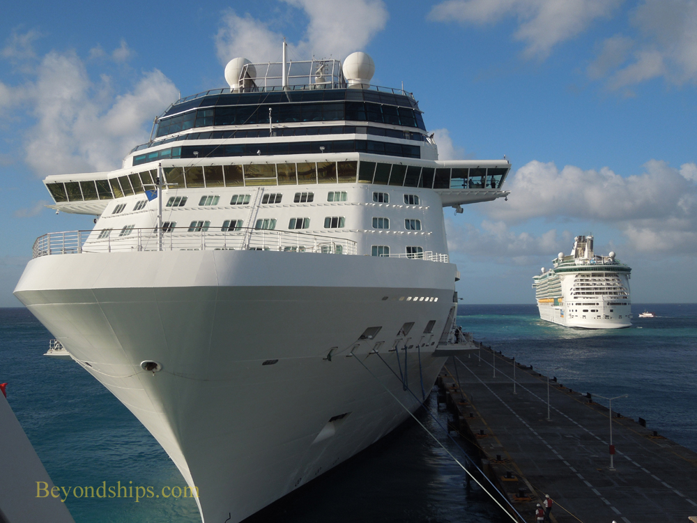 Picture cruise ships Celebrity Eclipse and Independence of the Seas