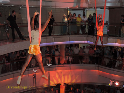 Picture Legend of the Seas aerialists performing in the Centrum