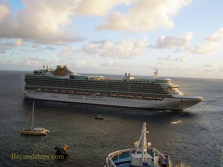 Picture cruise ship Ventura in St. Kitts.