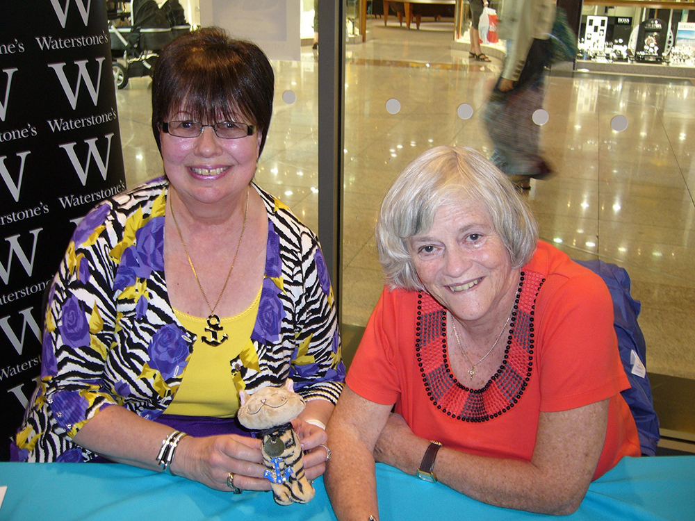 Author Shelia Collins with novelist Ann Widdecombe