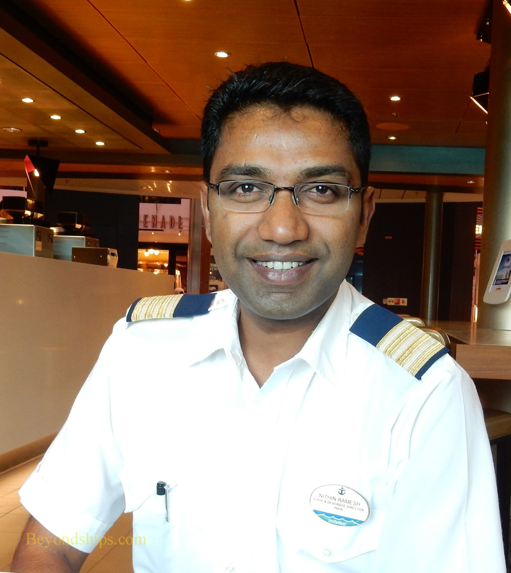 Food and Beverage Director Nithin Ramesh of Anthem of the Seas