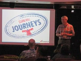 Tom Parks giving a Carnival Journeys presentation