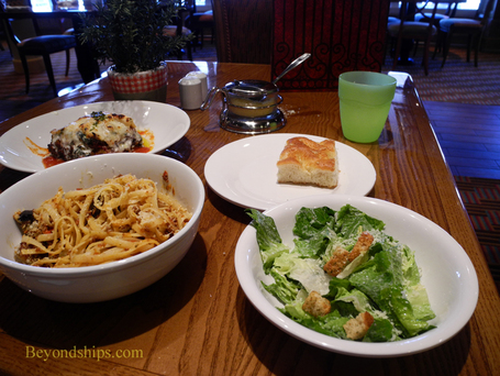 Carnival Breeze cruise ship lunch