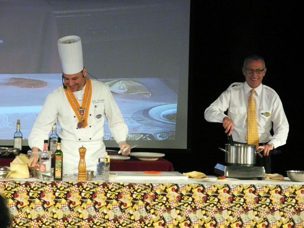 Picture Cooking demonstration on Ocean Princess
