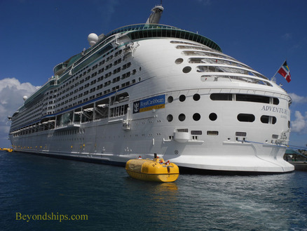 Adventure of the Seas with lifeboat