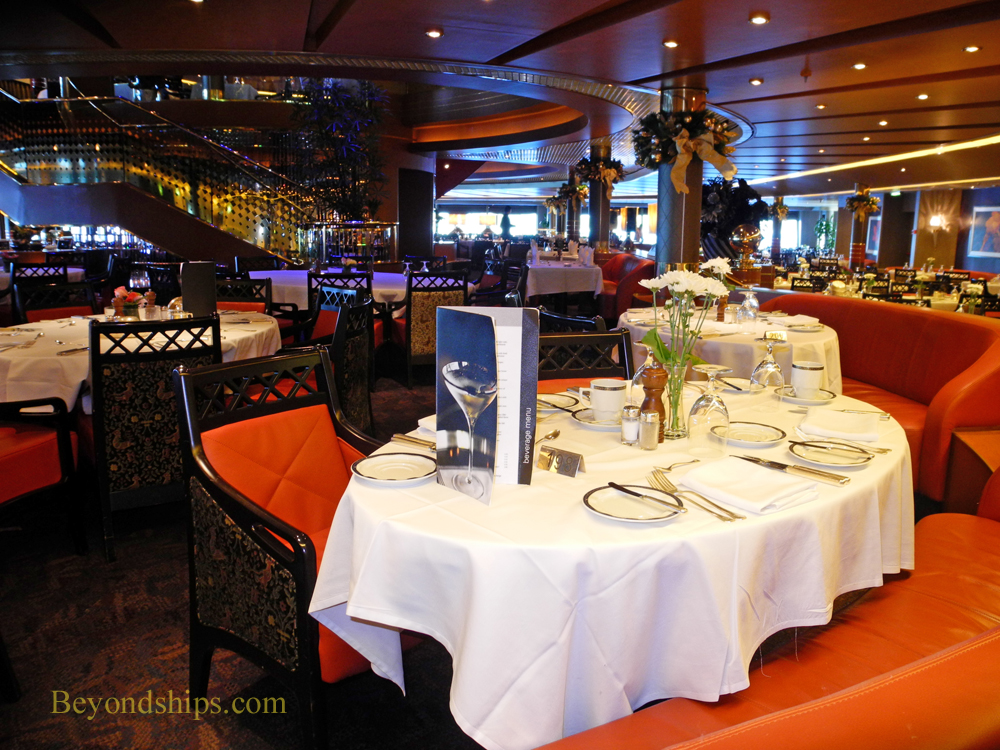 Picture the Rembrandt dining room on cruise ship Eurodam