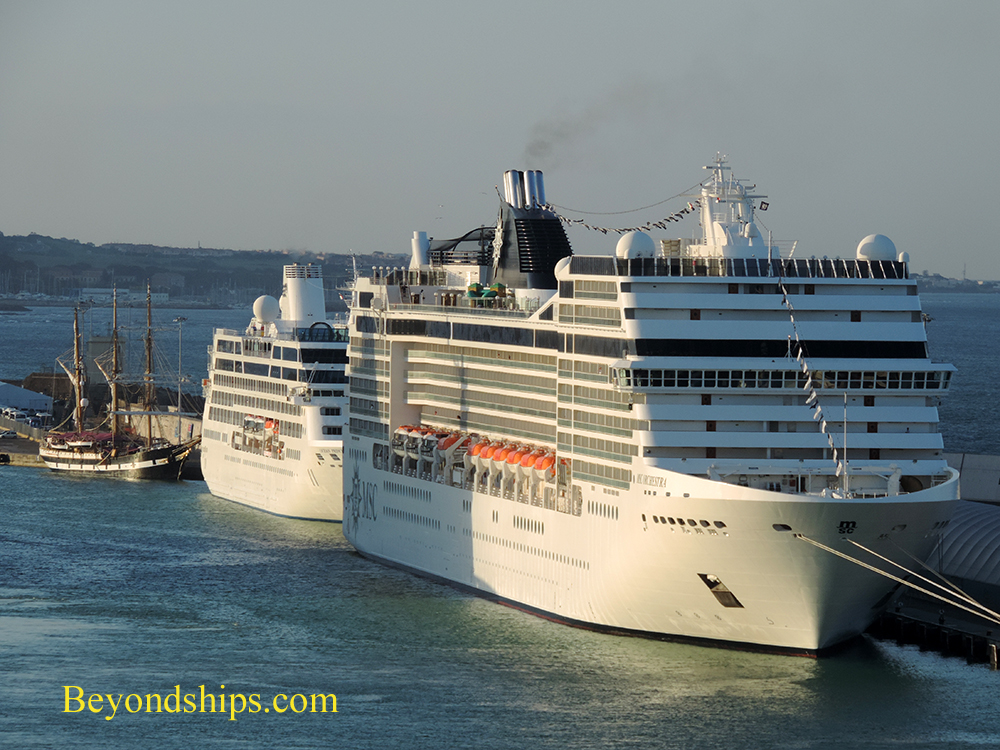 Cruise ships MSC Orchestra and Ocean Princess