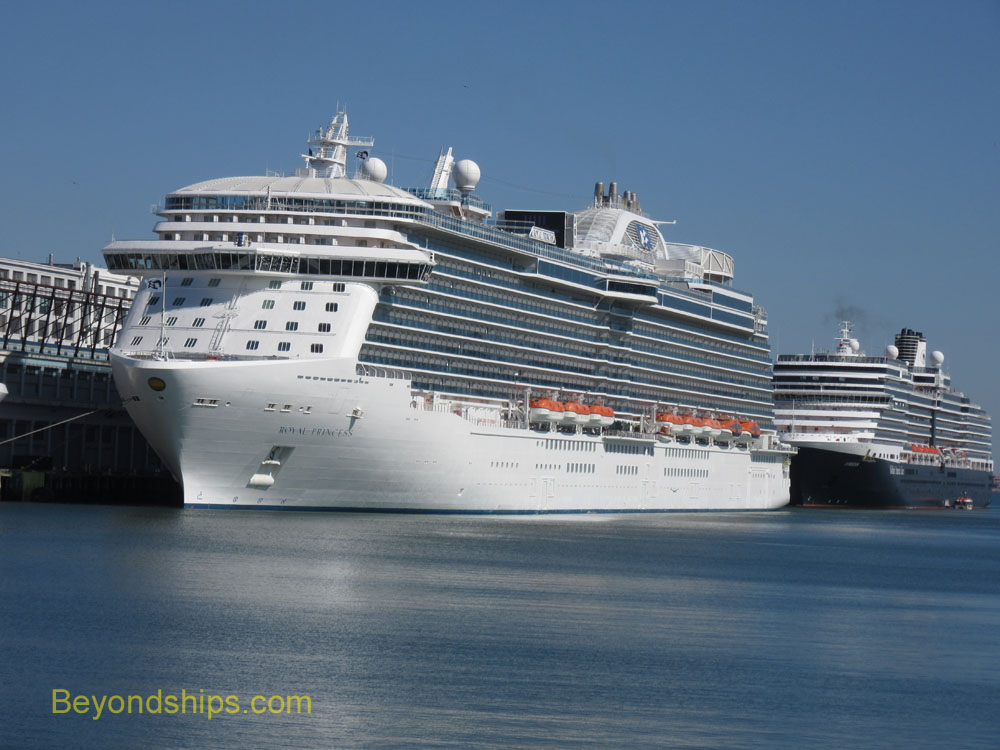 Royal Princess and Eurodam cruise ships