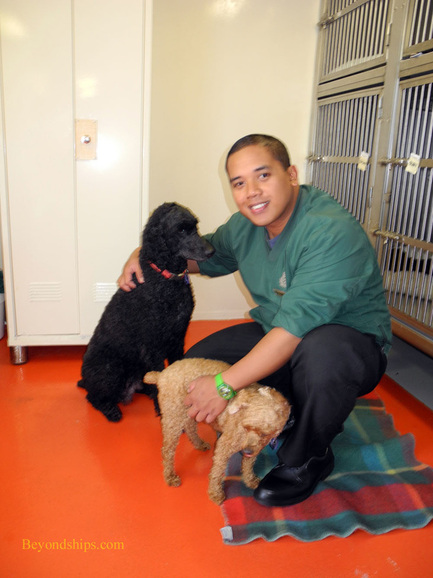 Kennel Master Jojo Bulabon on Queen Mary 2