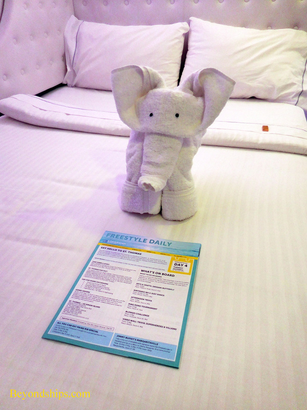 Norwegian Escape towel animal