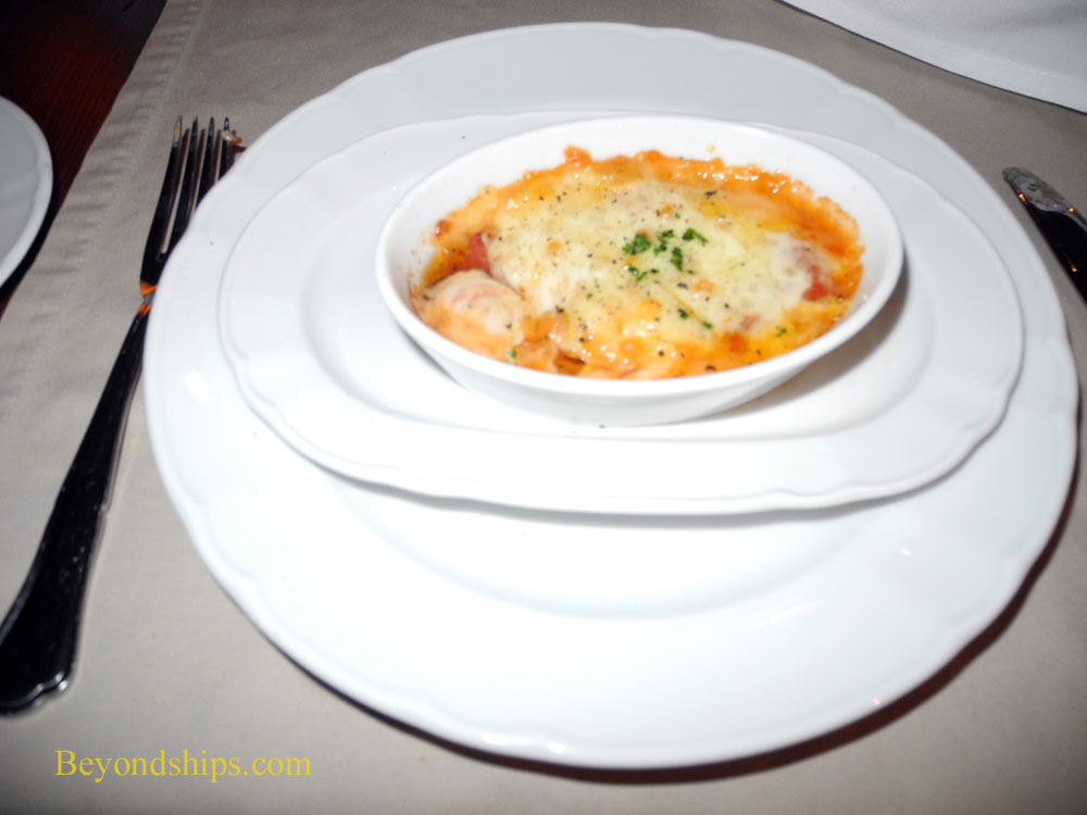 Eggplant parmigiana from Giovanni's Table on cruise ship Brilliance of the Seas