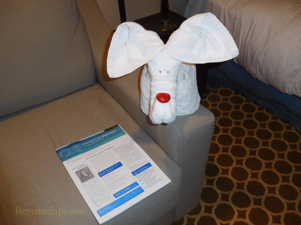 Pacific Princess cruise ship towel animal