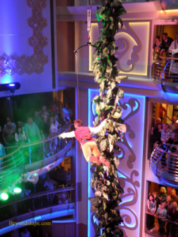 Aerialist on Brilliance of the Seas