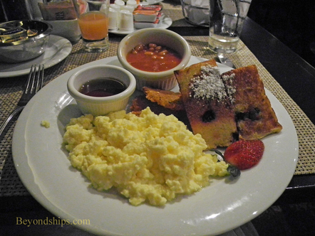 A breakfast on Norwegian Epic