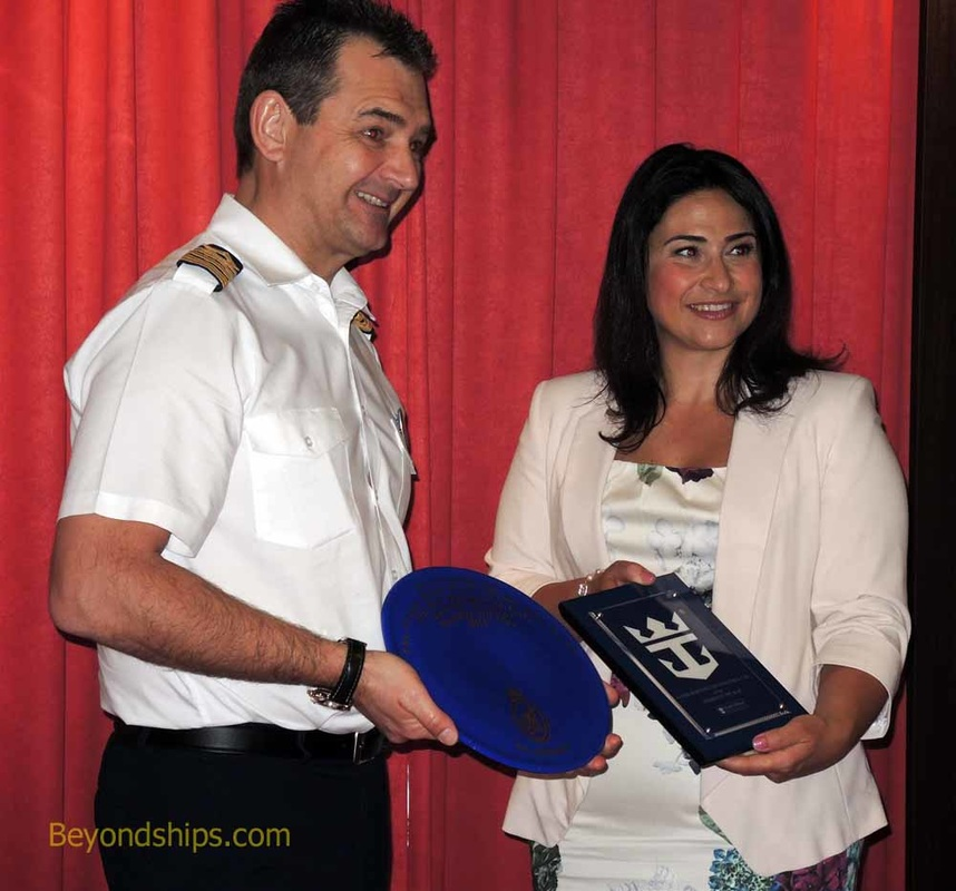 Captain Claus Andersen  of Anthem of the Seas and Samantha Sacramento Minister of Tourism
