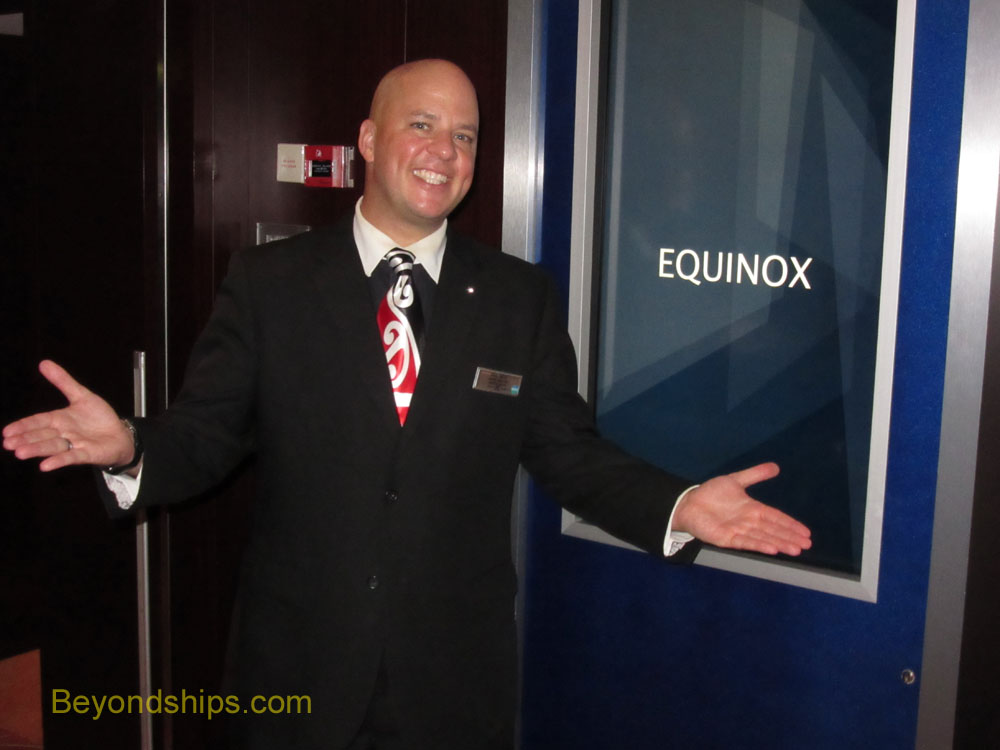 Cruise Director Paul Baya of Celebrity Equinox