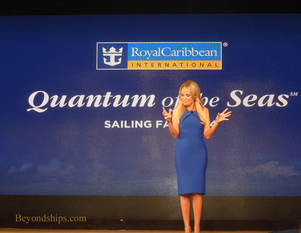 Picture Actress Kristen Chenowith is the godmother of Quantum of the Seas