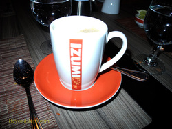 After dinner coffee at the Izumi specialty restaurant on Legend of the Seas