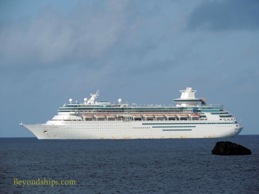 Royal Caribbean cruise ship Majesty of the Seas off Coco Cay
