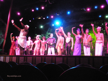 A productions show on cruise ship Ventura.