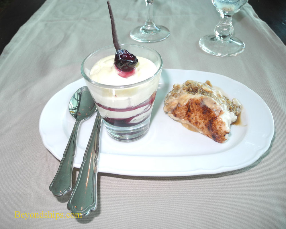 Dessert from Giovanni's Table on cruise ship Brilliance of the Seas