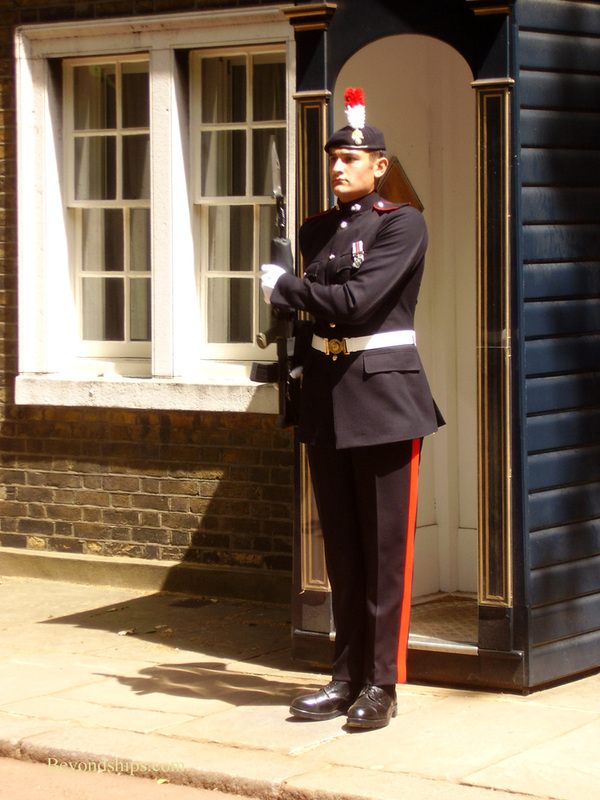 British Army soldier on guard