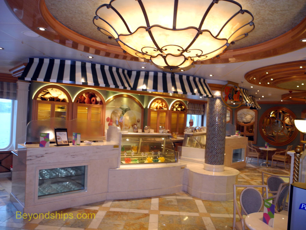 Gelato ice cream parlor on Royal Princess