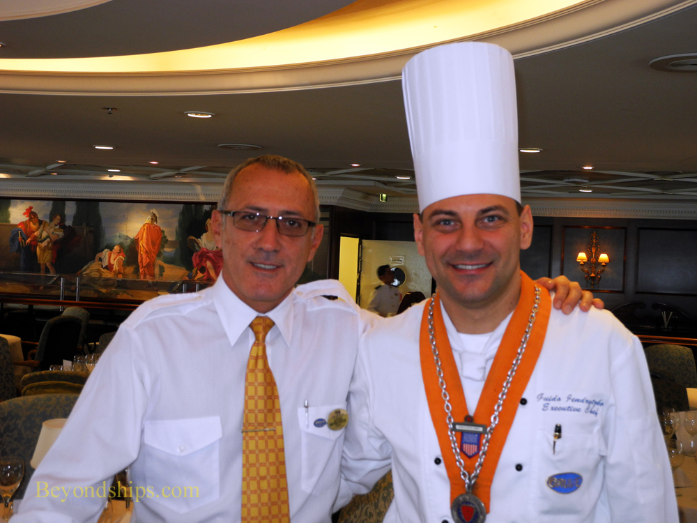 Chef Guido Jendryztko and Maitre d' HOtel Lugi Pascale of Ocean Princess