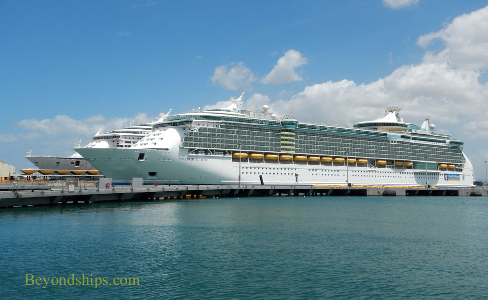 Freedom of the Seas and Adventure of the Seas, cruise ships