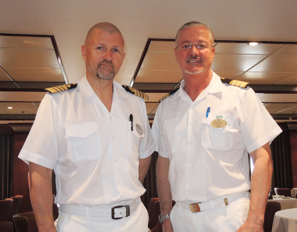 Captain Kim Karlson and Hotel Director Mirsad Bucuk of  Norwegian Jade