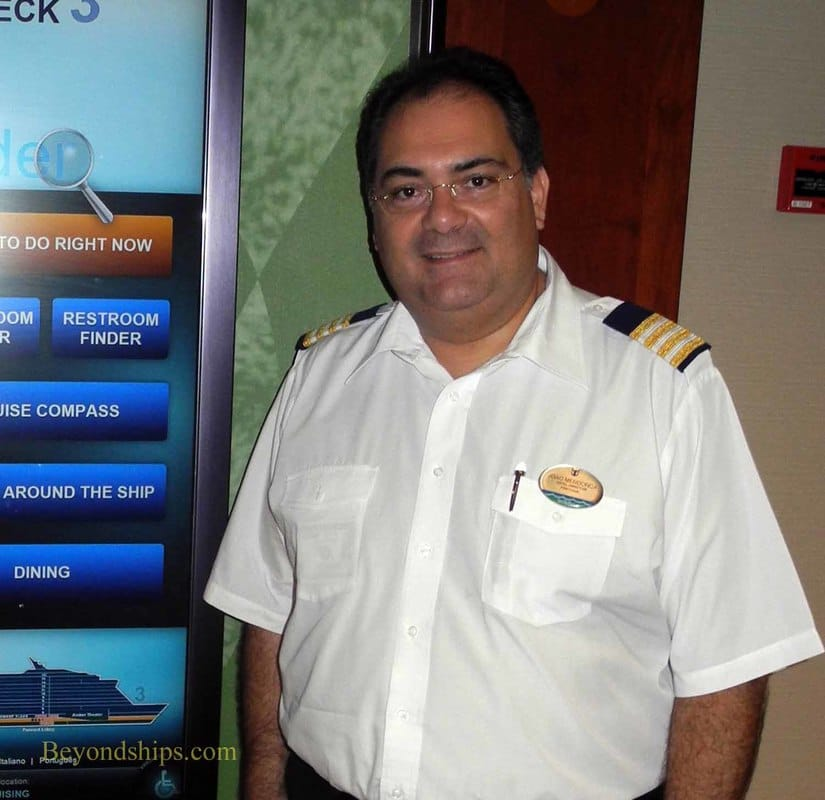 Hotel Director Joao Mendonca of Royal Caribbean