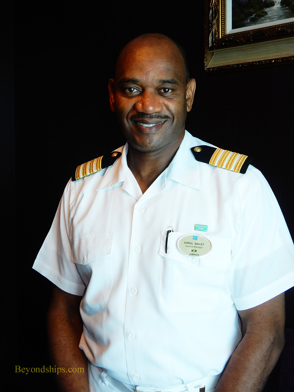 Hotel General Manager Errol Bailey of Norwegian Cruise Lines